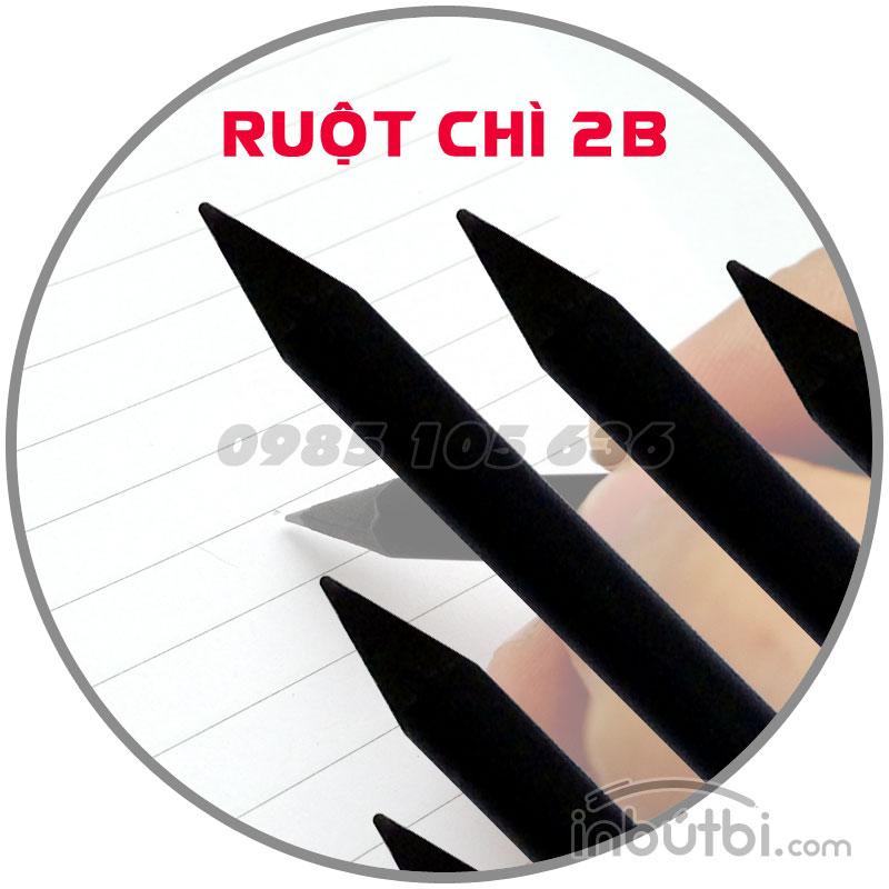 In logo lên bút chì gỗ đen tại Hà Nội