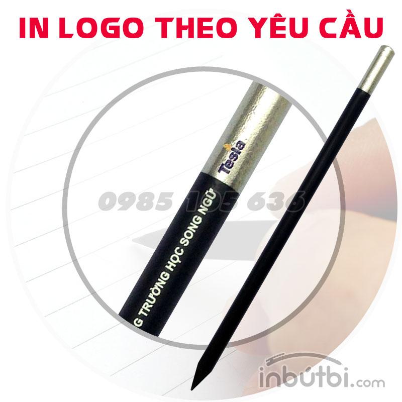 in bút chì gỗ đen 2B