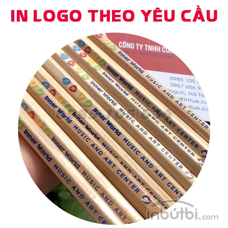 Bút chì gỗ in logo theo yêu cầu giá rẻ